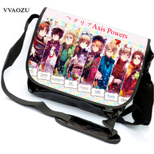 Axis Powers Hetalia School Bags Anime APH Canvas Messenger Bag Satchels Students Bookbag Free Shipping(China)