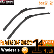 Specific Front Windshield Wiper Blade For Audi A6 C6 4F 2004-2012 22''+22'' Auto Wipers Free Shipping