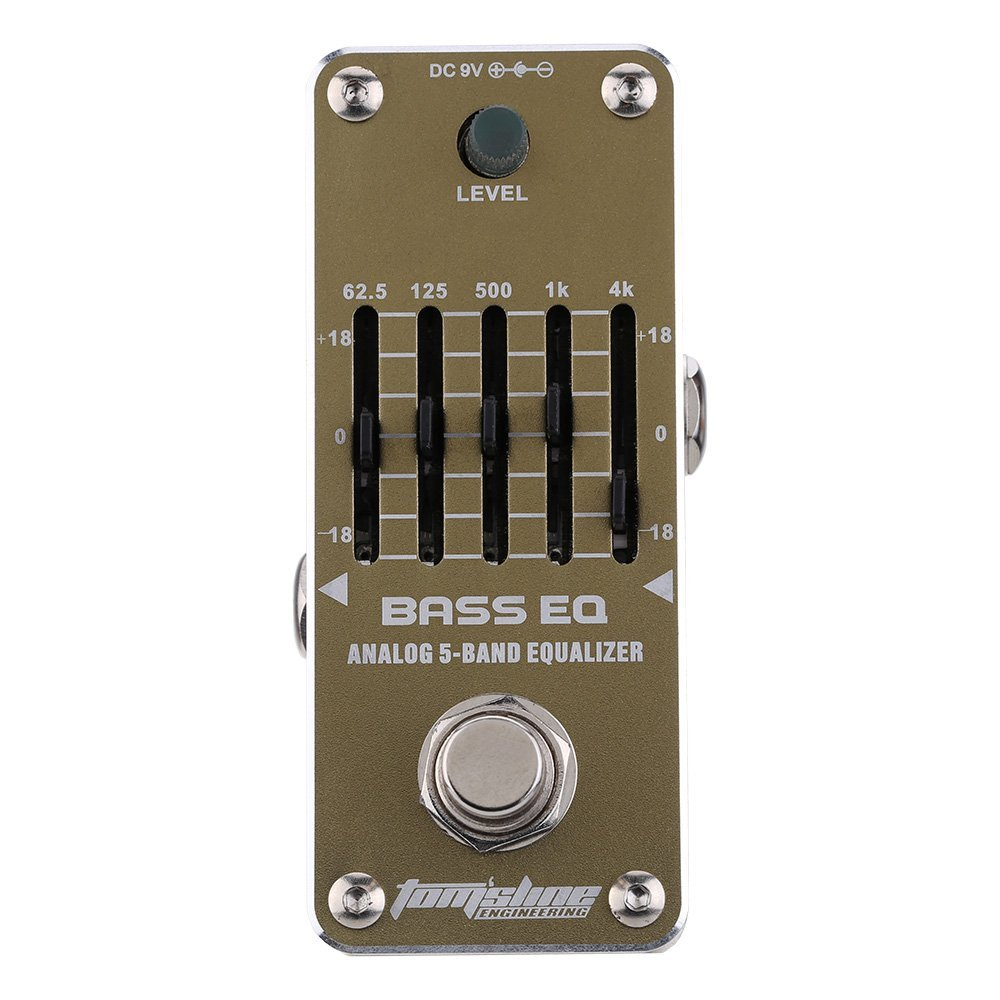 AROMA AEB-3 Guitar Effect Pedal Bass EQ Analog 5-Band Equalizer Electric Guitar Effect Pedal Mini Single Effect with True Bypas<br>