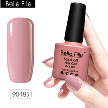 BELLE FILLE 79 Colors Gel Nail Polish UV 10ml Pink Soak Off Gel Polish LED Gel For Nails Varnish Base Coat Vernis Semi Permanent(China)