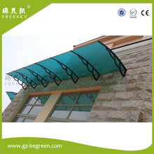 YP100360 100x120cm 100x240cm 100x360cm rain shelter PC window canopy polycarbonate awning with outdoor canopy metal roof(China)