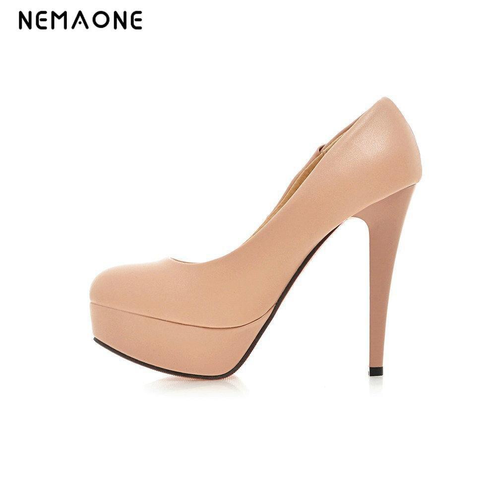 NEMAONE 2017 Spring Fashion Women Pumps Platform Womens Pumps Colorful Female Single Shoes Sexy Thin Heels Shoes<br>