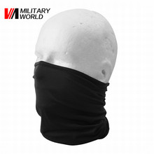 Black Sunscreen Windproof Elastic Neck Hood Cover Cycling Riding Head Scarves Outdoor Sports Bandana Breathable Half Face Mask(China)