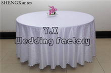 Round Table Cloth \ Damask Tablecloth For Wedding Decoration