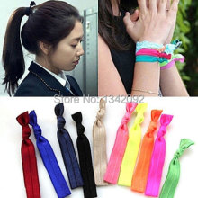 Silk Elastic Hair Ribbons Soft Knot Hair Bands Stretchable Hair Ties Wristbands for Girl Hair Accessories