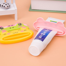 3pcs Cartoon Cat/Frog/Panda/Pig Bathroom Dispenser  Animal Tooth Paste Squeezer Tube Squeezer Easy Squeeze Dispenser Roll Holder