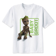 Guardians of the Galaxy 2 t Shirt Anime baby funko groot funny Men T-shirt New Print TShirt Mens top Print clothing(China)