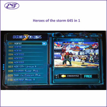 Free shipping 2016 new arrival jamma game borad heroes of the storm 3 Multigame 645 in 1 PCB for arcade machine