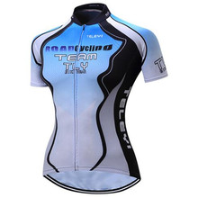 Teleyi Moisture wicking short sleeve Women Summer Cycle Jersey made with Coolmax fabric ga009