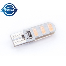 10pcs T10 194 2825 W5W 6smd 5730 led Silica gel Waterproof Wedge Light Car marker light reading dome Lamp Auto parking bulbs 12V