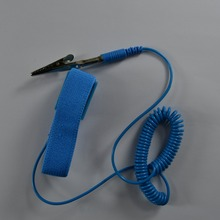 PVC Cordless wireless Clip Antistatic Wristband Esd Wrist strap Discharge cables for Electrician IC PLCC worker(China)