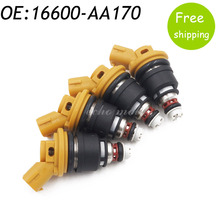 New 4pcs 550cc Side Feed Fuel Injector For Subaru Sti WRX GC8 2.5L Engine 16600-AA170 FJ942 SF-61-550CC,16600AA170(China)