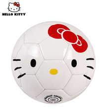 Hello Kitty 2.7mm PVC Size 2# Soccer ball 15cm High quality Kids football training ball Cute Girls Funny Outdoor Football balls(China)