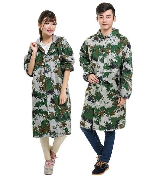 Outdoor Sport Men Women Long Trench Raincoat mens Dark Blue Camouflage Hooded Rain Jacket ponchos mujer Waterproof Fishing Coat