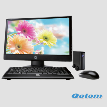 Dual nic mini pc Qotom-T30S  Celeron 1037U Cheap Thin Client Fanless Mini Industrial PC 12v Desktop Computer