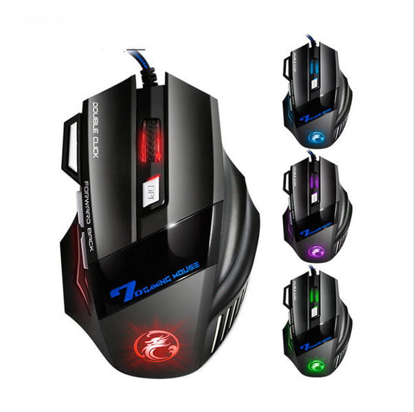 Luxury Colorful 2400 DPI 7D Buttons LED Wired Gaming Mouse Mice For PC Laptop