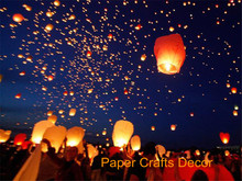 New 50pcs/lot Diamond Shape Wire Free Sky Lantern 100% Biodegradable Paper Fire Resistant Wishing Balloon Wedding Party Supplies(China)