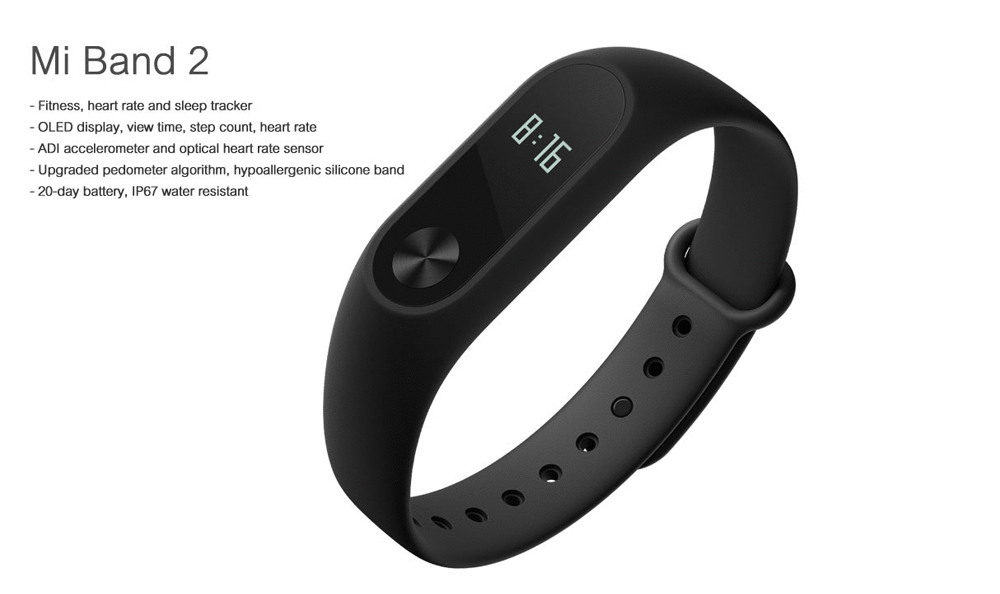 In stock 100% Original Xiaomi Mi smart wristband Xiomi Fitness Bracelet miband 2 mi band 2 for Xiaomi Mi6 sport tracker 2