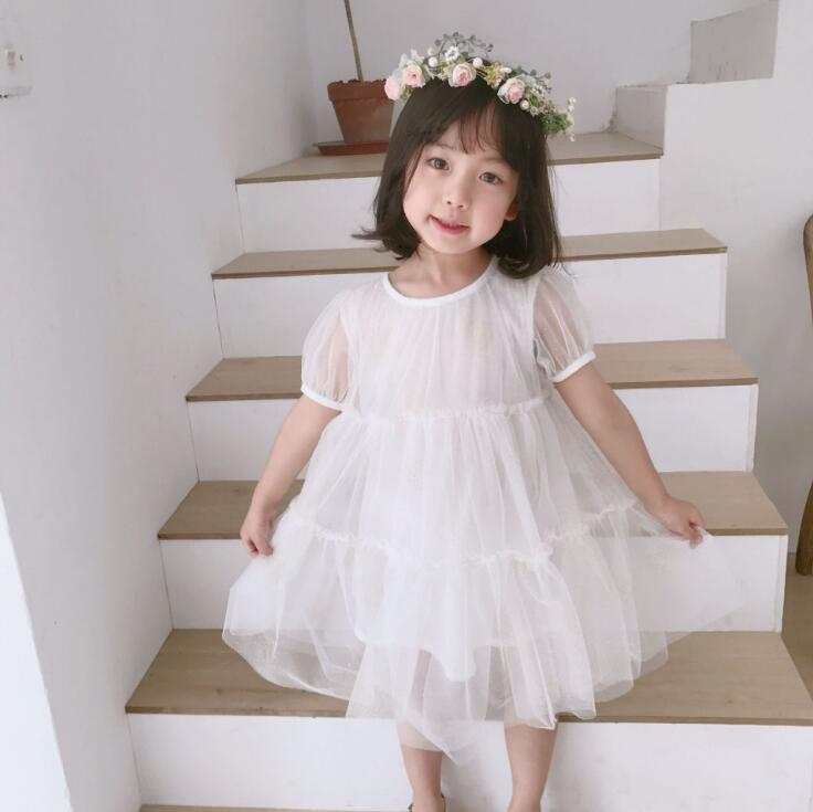2019 New Style Girls  Princess  Dress  Fashion  Summer  Girls  Dresses 2-7t PT392