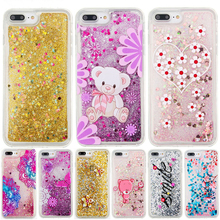 Phone Bags Case For Apple iPhone 4 4S 5 5S SE 5C 6 6S 7 Plus ipod touch 5 6 Soft TPU Bling Glitter Quicksand Cover   B31