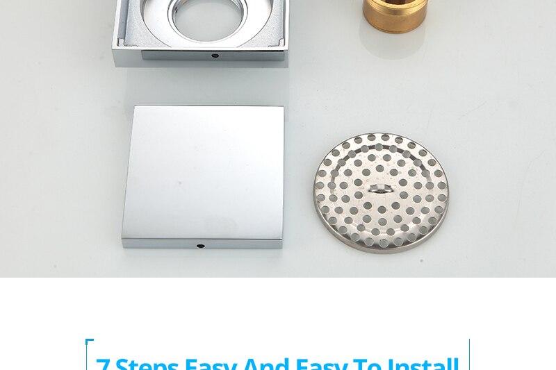 DCAN Brass Drains Drain Strainers Floor Linear Shower Floor Drains Bathroom Shower Drain Cover Kitchen Filter Strainer Drainer (28)
