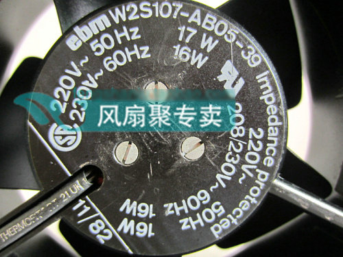 Original ebm PAPST W2S107-AB05-39 12cm 12038 220V AC cooling fan Full Metal<br>