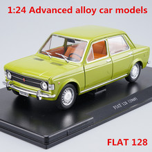 1:24 Advanced alloy car models,high simulation FLAT 128 car model,metal diecasts,children's toy vehicles,free shipping(China)