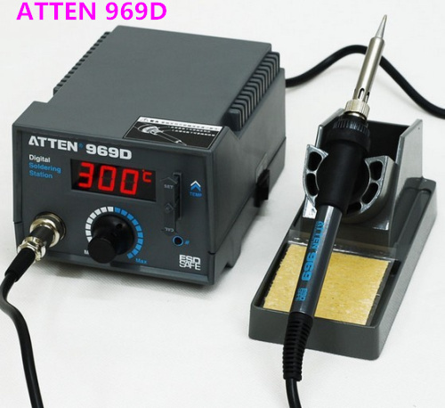 High Precision Digital Soldering Stations Soldering Irons  220V Atten AT969D 969D Digital Soldering Stations Soldering Irons<br><br>Aliexpress