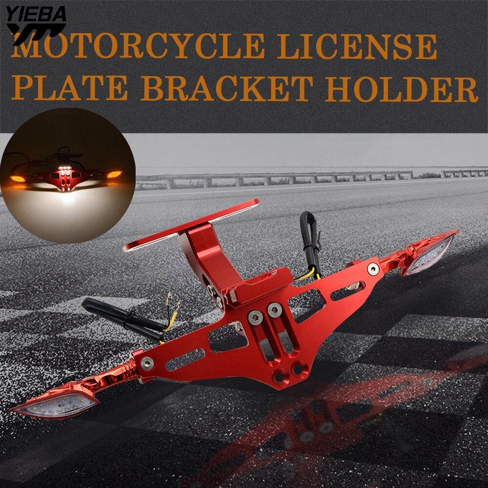 Motorcycle Bracket Licence Plate Holder Light FOR Honda CB 599 919 400 CB600 HORNET CBR 600 F2 F3 900RR 250 VTR 250 MSX PCX125