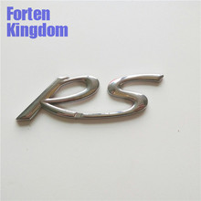 Forten Kingdom Car Word RS ABS Chrome Custom Letter Emblem Rear Trunk Auto Nameplate Badge Tailgate Sticker