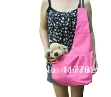 New Pink Pet Sling Carrier Dog Cat Carrier dog carrier Free Shipping Retail puppy dogs sling carrier bag(China)