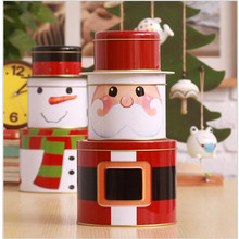 Christmas Popular Series Snowman Three Layers Sundries Tin Case Expedient Jelly Magnetic Card Box
