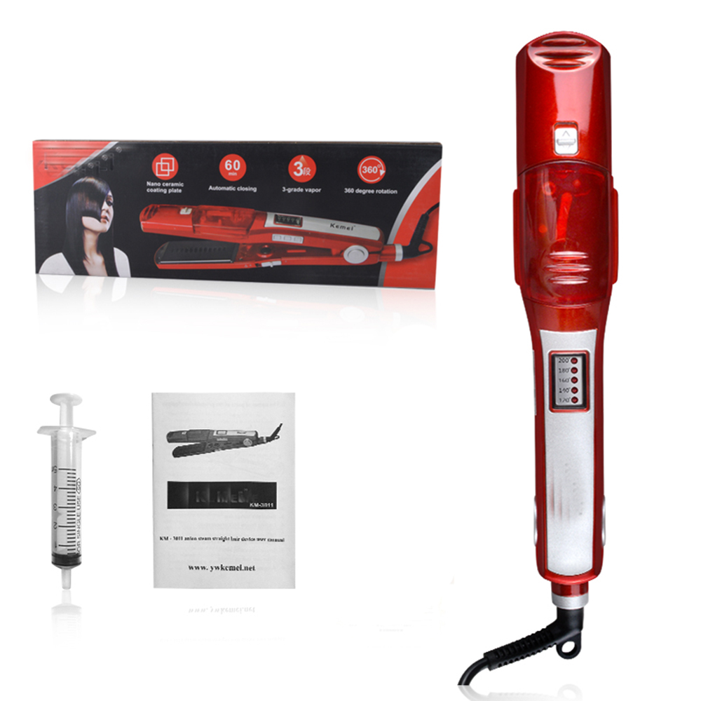 Fast Heating Steam Hair Straighteners Professional Hairstyling Ceramic Hair Straightener Flat Iron Styling Beauty Hair Tool<br>