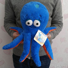 Free Shipping 30cm=11.8'' Original 3D eyes Blue Octopus doll Stuffed animal soft plush toys for baby gift(China)