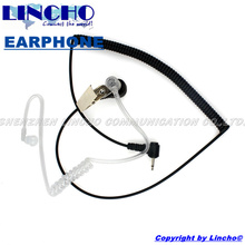 listen only acoustic headset earpiece 2.5mm connector for some walkie talkie microphone