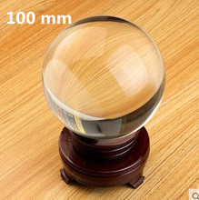 100mm Rare Clear Feng Shui Ball Crystal Ball Sphere Fashion Home Decoration Glass Ball +Stand For Sale