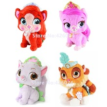 New Princess Palace Pets Plush Tiger Sultan Kitty Treasure Lily Puppy Macaron Kids Stuffed Animals Toys For Children Gifts 30CM