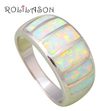 Amazing Anniversary gifts White fire Opal Silver stamped Rings Wholesale & Retail fashion Opal jewelry USA sz  #6#7#8#9 OR733