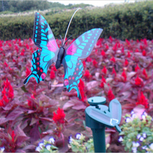 1 Pcs Random Color Mini Solar Power Toy Simulation Butterfly Solar Toy for Kids Children Novelty Flying Solar Butterfly Toy(China)