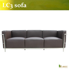 U-BEST Home Office Modern Sofa Le corbusier lc3 Sofa, le corbusier lc3 modern leather sofa(China)