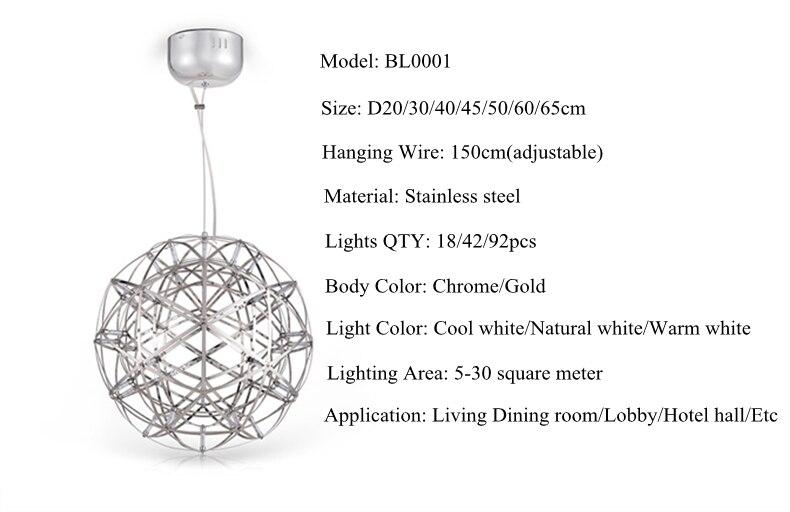 firework stainless steel chandelier led lamp loft 8