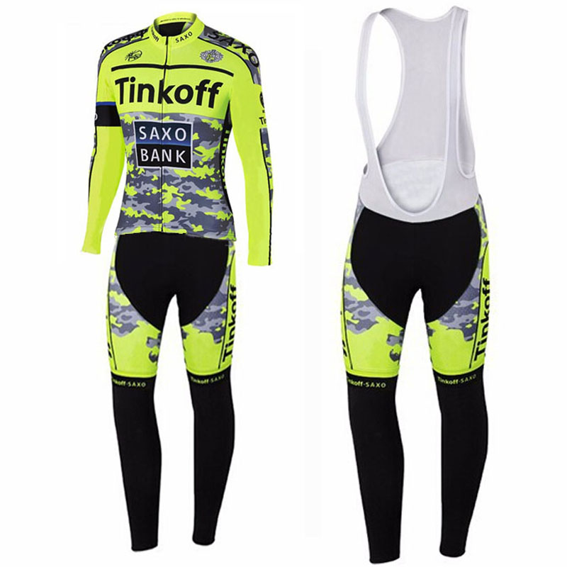 Flour Yellow Saxo Bank Cycling Jerseys/cycling wear Ropa Ciclismo/MTB Racing bike Sportswear/Long Sleeve Cycling Clothing<br><br>Aliexpress