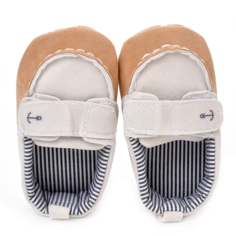 17 Fashion Newborn Baby Girl Boy Shoes Soft Sole Infantil Toddler Baby Boy Sneakers Blue Baby Mocassins Crib Peas Flock Shoes 4