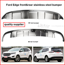 front&rear stainless steel bumper skid plate bull bar for Ford New Edge 2015 2016, factory direct sale, ISO9001 quality supplier