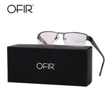 OFIR Fashion Full-Rim Eyeglasses Frame Brand Designer Business Men Women Alloy Frame Glasses Hinge On Legs Eyewear Accessories