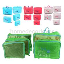 5Pcs Clothes Underwears Packing Cube Storage Bag Travel Luggage Organizer