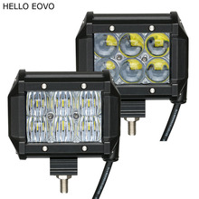 HELLO EOVO 2pcs 4 Inch 30W 4D 5D LED Work Light Bar for Motorcycle Driving Offroad Boat Car Tractor Truck 4x4 SUV ATV 12V