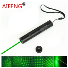 AIFENG NEW Green Laser Pointer 80mw Laser Pointer Pen With Starry Head long shots instruction teaching stage lighting sales
