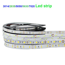 DC12V Led tape 3014/2835/5050/5630/7020 Flexible led strip light Not waterproof indoor decoration Not waterproof warm white/RGB