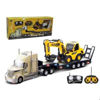 2PCS /Set Big Remote Control Car+RC Excavator Detachable Kids Electric Big Rc Car Trailer Remote Control Wireless Truck Car  Toy<br><br>Aliexpress